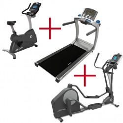 Life Fitness T5.5 loopband + C3 Track+ hometrainer + X3 Go crosstrainer Combi-deal (gebruikte modellen)