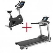 Life Fitness F3 Track + Loopband + Life Fitness C1 Track + Crosstrainer Combideal (gebruikte modellen)