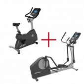 Life Fitness Crosstrainer X1 Track + Life Fitness C1 Track hometrainer combideal